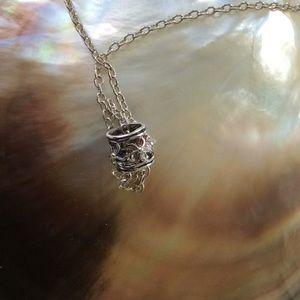 Jewelry - SS Hawaiian plumeria slider pendant